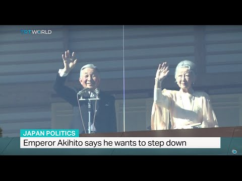 Japanese emperor Akihito says he wants to step down
