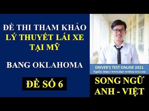 Đề thi Lý Thuyết lái xe tại Mỹ bang Oklahoma 2021 - Đề 6 (Song ngữ Anh - Việt) #439