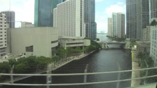 riding the Metromover in Miami