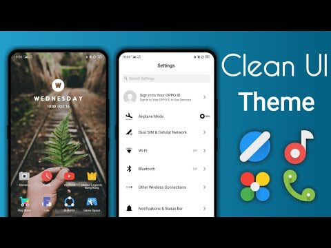 Clean ui Oppo theme (color OS5)