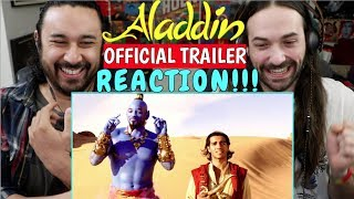 ALADDIN Official TRAILER - REACTION!!!