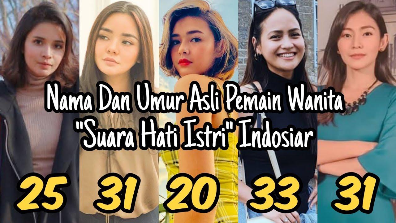 Kecantikannya Bikin Pangling‼️ Inilah Nama Dan Umur Asli Pemain Wanita Suara Hati Istri Indosiar....
