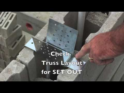 Roof Truss Tie Down To Concrete Masonry Youtube