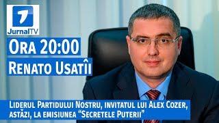 """Renato Usatîi, invitatul lui Alex Cozer, la emisiunea """"Secretele Puterii"""" de la Jurnal TV"""