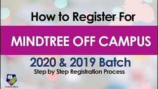 Mindtree Off Campus Drive for 2020 & 2019 Batch| How to Register| Off Campus Updates