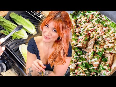 Will Grilling Lettuce Change CAESAR SALAD Forever? | Vegan Caesar Salad Recipe