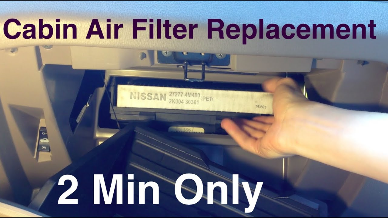 Cabin Air Filter Replacement Nissan Altima 2 Minutes