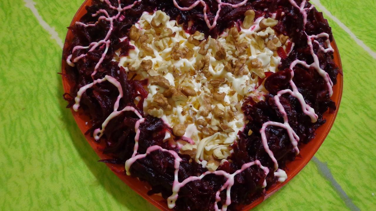 салат в виде сердца рецепт с фото название