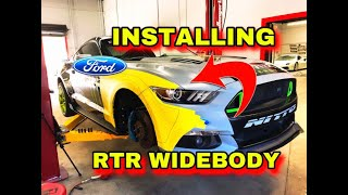 INSTALLING WIDEBODY KIT ON MONSTER ENERGY FORD MUSTANG GT 5.O RTR!