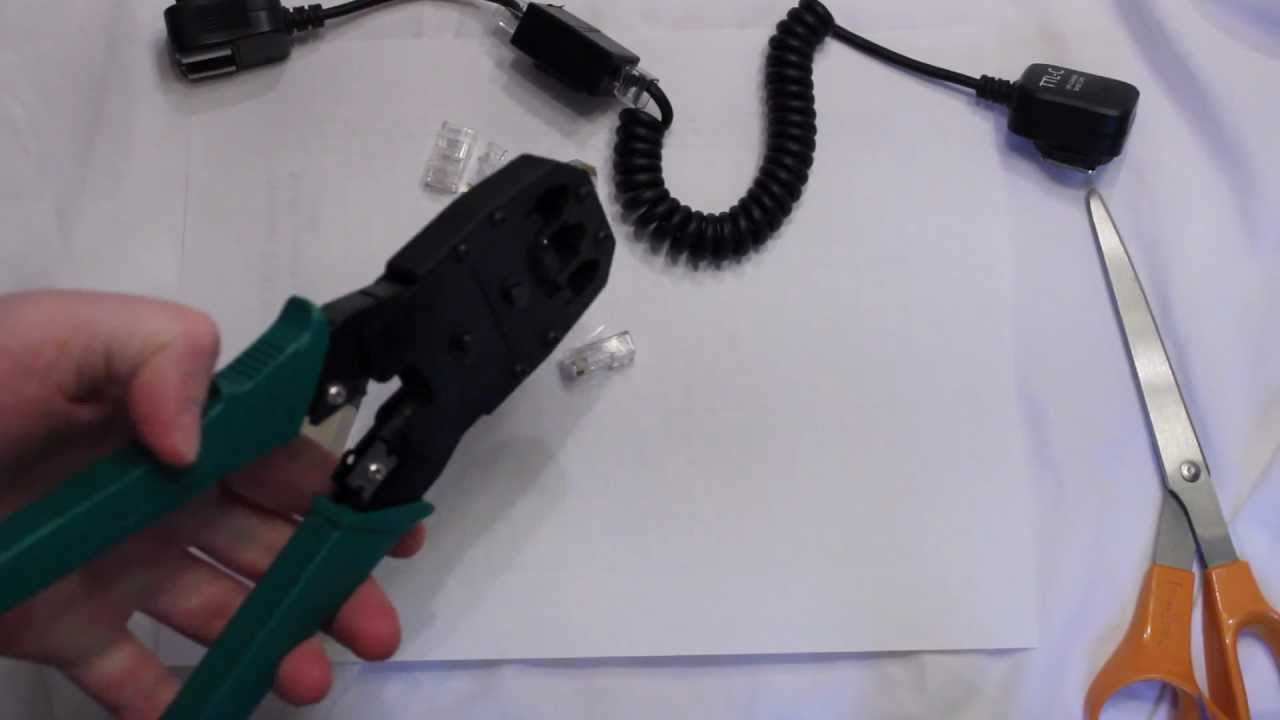 DIY - How to make a adjustable flash sync cord with cat5 cable - YouTube