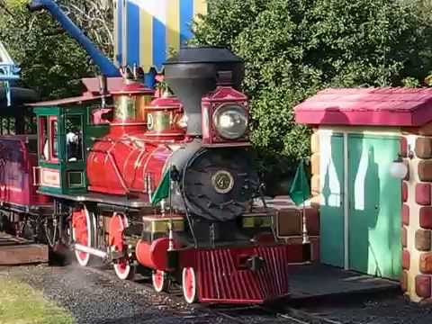"Walt Disney World ""Roy O. Disney"" Locomotive Leaving Toontown"