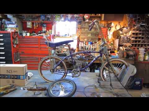 bike engine installed on its new frame