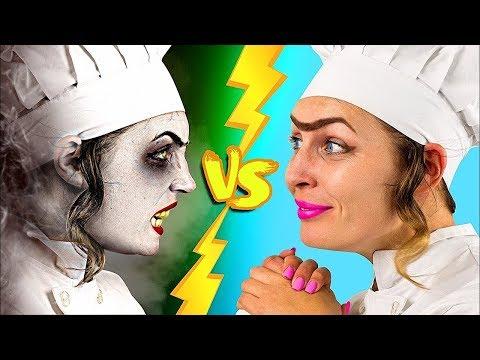 ¡RETO DE LOS CHALLENGES! ¡COMIDA DE HALLOWEEN vs COMIDA REAL!