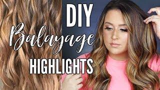 DIY Balayage Highlights at home!!   HAIR PAINTING TUTORIAL