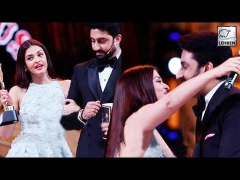 Abhishek Bachchan And Aishwarya Rai's CUTE PDA | Stardust Awards 2016 | LehrenTV