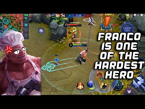 FRANCO IN MYTHICAL GLORY AIN'T EASY 😢   RANK SEASON 13   WOLF XOTIC   MOBILE LEGENDS