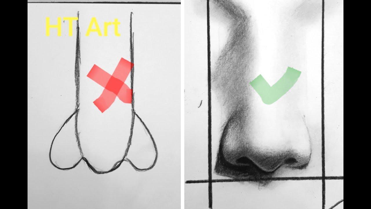 Hướng dẫn Vẽ mũi 👃 nhanh đúng cách. Mũi Cao đẹp. Mũi rọc dừa . Mũi đẹp . /How to draw