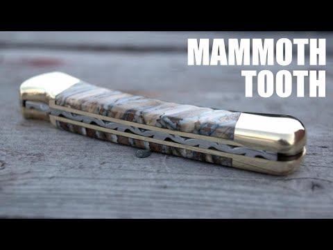 AMAZING CUSTOM KNIFE - Mammoth Tooth & File Work!