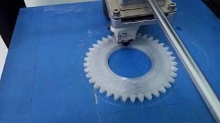 Печать шестерни на 3D принтере(Восстановление шестерни с помощью 3D печати по поврежденному образцу., 2016-05-12T10:34:32.000Z)