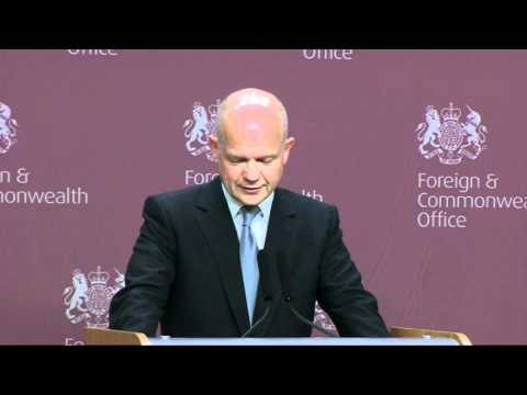 Funny video: William Hague's list of random requests by Brits abroad