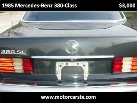 1985 mercedes benz 380 class used cars san antonio tx for Used mercedes benz in san antonio