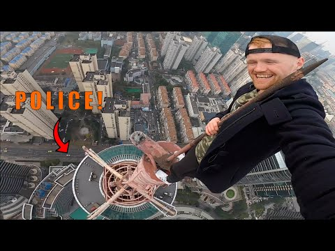 CLIMBING SKETCHY SPIRE IN CHINA!!