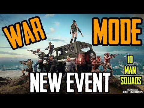 NEW EVENT MODE ||WAR MODE || 10 MAN SQUADS || RESPAWNS || FIRST to 200 WINS!