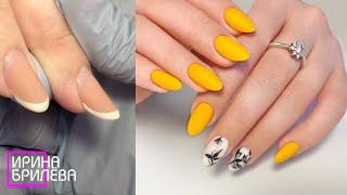 ВВЕРХ растущие ногти Корректируем ногти ТРАМПЛИНЫ Весенний маникюр