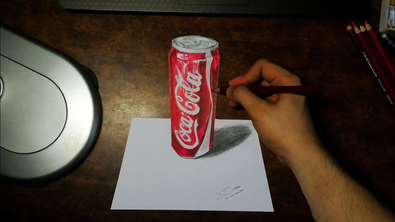 3D DRAWING | COCA COLA SPEED DRAWING