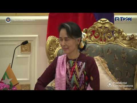 Meeting with H.E. Daw Aung San Suu Kyi of Myanmar 3/20/2017