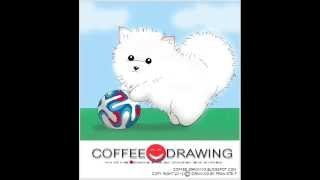 how to draw pomeranian puppy สอนเด็กวาดรูปลูกสุนัขปอมเมอเรเนียน [by coffee-drawing]