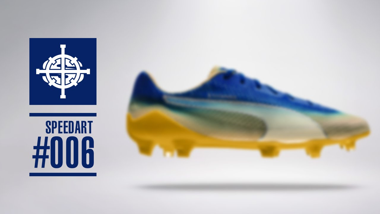 SPEEDART  006    HOW TO CUSTOMIZE FOOTBALL BOOTS - PUMA x LEICESTER  EVOSPEED FOR FUTBOL SPORT de54a969f2b0