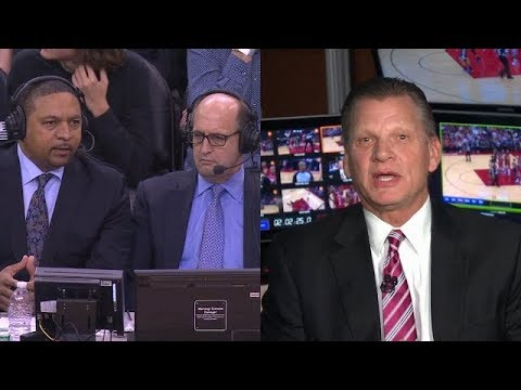 Jeff Van Gundy & Mark Jackson discuss players constant complaining with Official Steve Javie