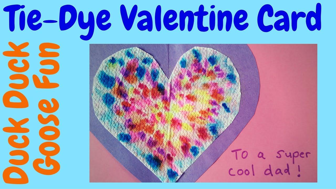 Valentine\'s Day: Groovy Tie-Dye Valentine\'s Day Cards Craft for Kids ...