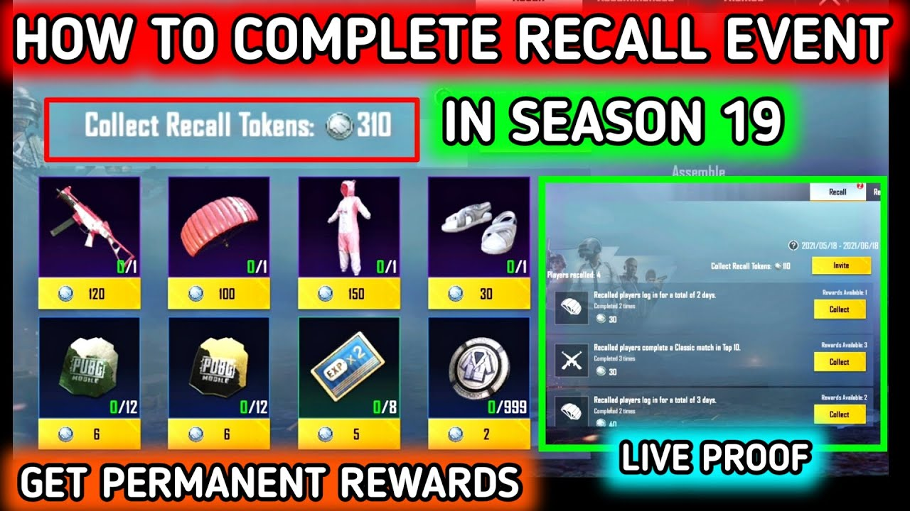 Download HOW TO COMPLETE RECALL EVENT IN PUBG MOBILE 🔥 HOW TO GET RECALL TOKEN IN PUBG 🔥 RECALL EVENT IN PUBG
