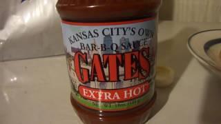 Kansas city gates extra hot bar-b-q sauce