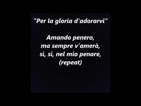 Per la gloria d'adoravi Bononcini Italian opera LYRICS WORDS BEST TOP POPULAR SING ALONG SONGS