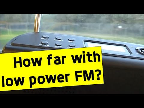 Range testing a 1 watt low power FM broadcast station (Surf FM)