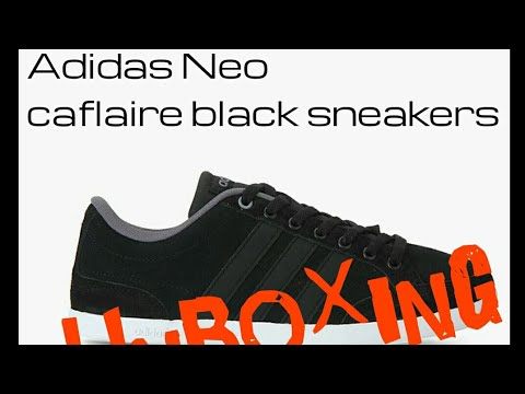 sale retailer b0a32 f6c07 Adidas neo caflaire black sneakers  unboxing