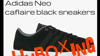 reputable site 8c17f cdf19 Adidas neo caflaire black sneakers  unboxing ...