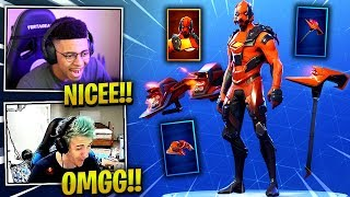 STREAMERS REACTS *NEW* VERTEX SKIN + FORERUNNER GLIDER - Fortnite Best & Funny Moments (Fornite BR)