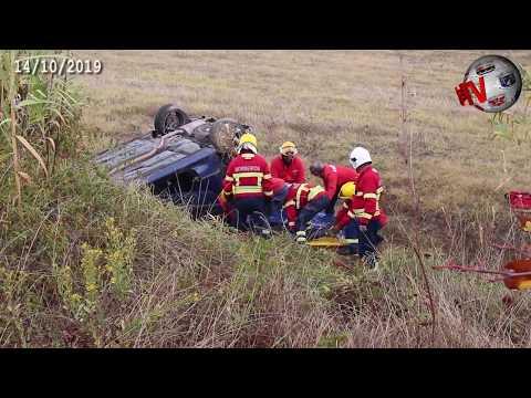 TOMAR – Última hora. Condutora em estado grave. Automóvel despistou-se e capotou na ribanceira