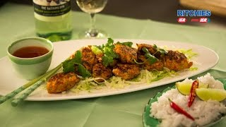 Thai Style Chicken Balls With Chilli Lime Dipping Sauce