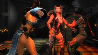 Mortal Kombat 9 Sindel kills almost everyone Cutscene number 1…