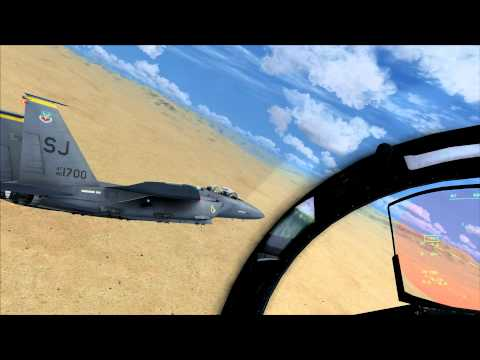 FSX: Messing around in the F-15E Strike Eagle '345'