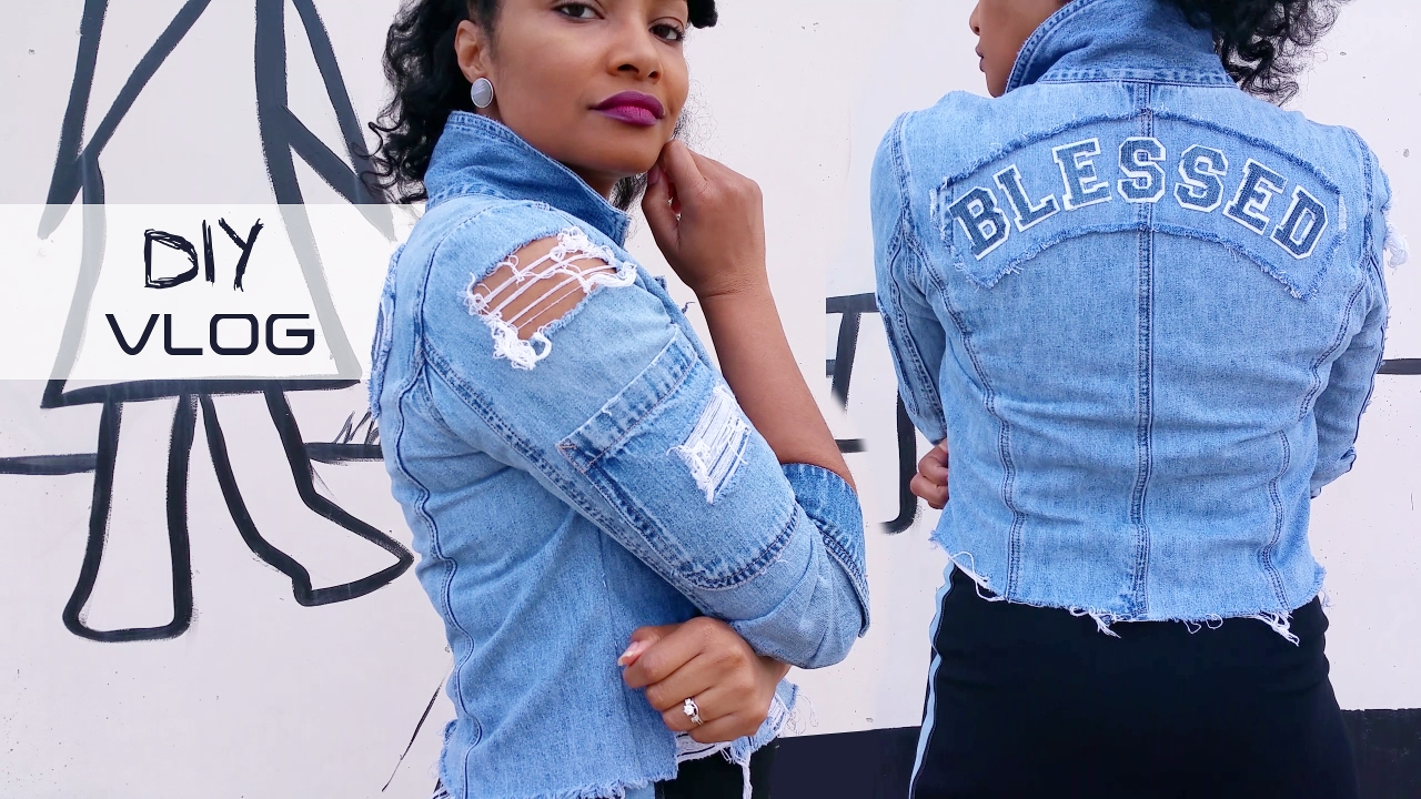 Diy How To Transform Thrifted Clothes Denim Jacket Pants