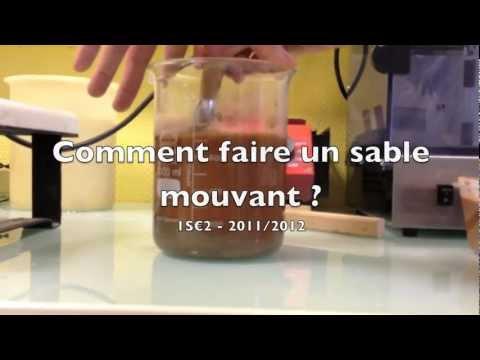 TPE SABLES MOUVANTS - Réalisation d'un sable mouvant