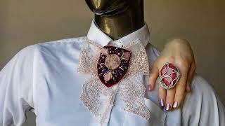 Как носить украшения и броши.  how to wear jewelry and brooches
