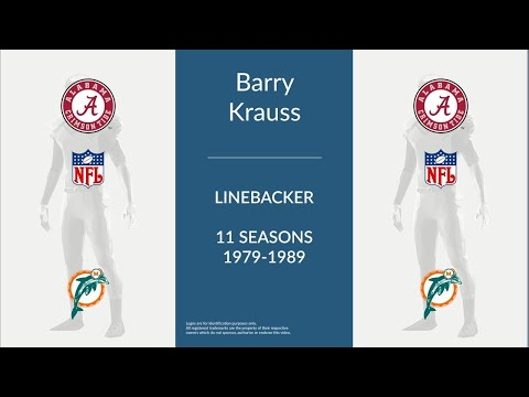 Barry Krauss: Football Linebacker