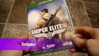 Unboxing Sniper Elite 3 III Rebellion 505 microsoft Xbox One Xbone X1 Live Gold